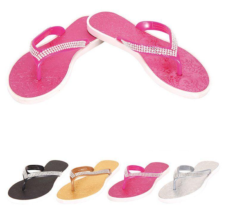 71d155986 48 Units of Ladies Flip Flops--Rhinestones - Women s Flip Flops - at -  alltimetrading.com