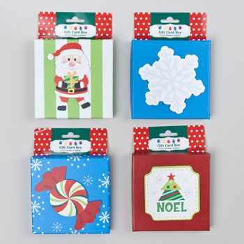 96 Units Of Gift Card Box Christmas Gift Bags And Boxes