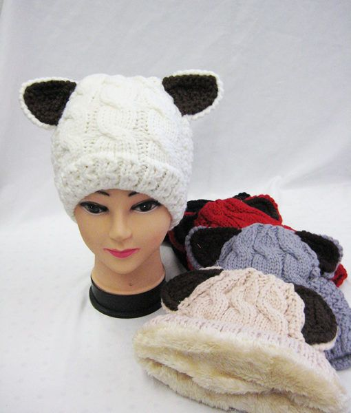 85ee86fd459 36 Units of Womens Warm Winter Beanie With Ears - Winter Beanie Hats - at -  alltimetrading.com