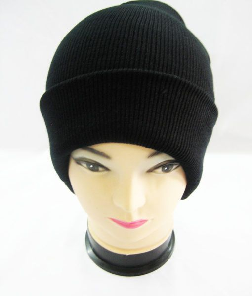 36 Units of Mens Black Ribbed Beanie - Winter Beanie Hats - at -  alltimetrading.com 8c92fe54ac0
