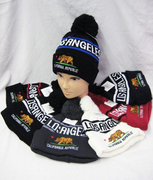 a0ad8553c67 36 Units of Men s Los Angeles Winter Pom Pom Beanie - Winter Beanie Hats -  at - alltimetrading.com
