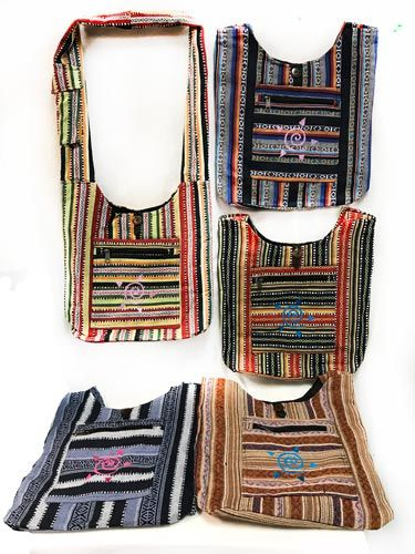 10 Units of Multicolor Patch Work Tribal Symbol Hobo Bag