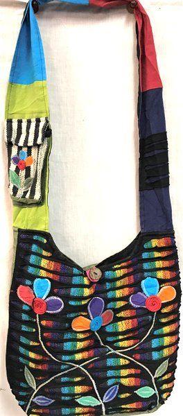 10 Units of Nepal Handmade Razor Cut Multicolor Hobo Bags - Tote Bags & Slings