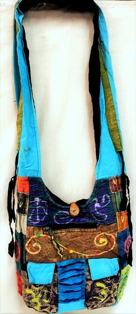 10 Units of Handmade Nepal Cotton two pockets Patch Work Hobo Bags