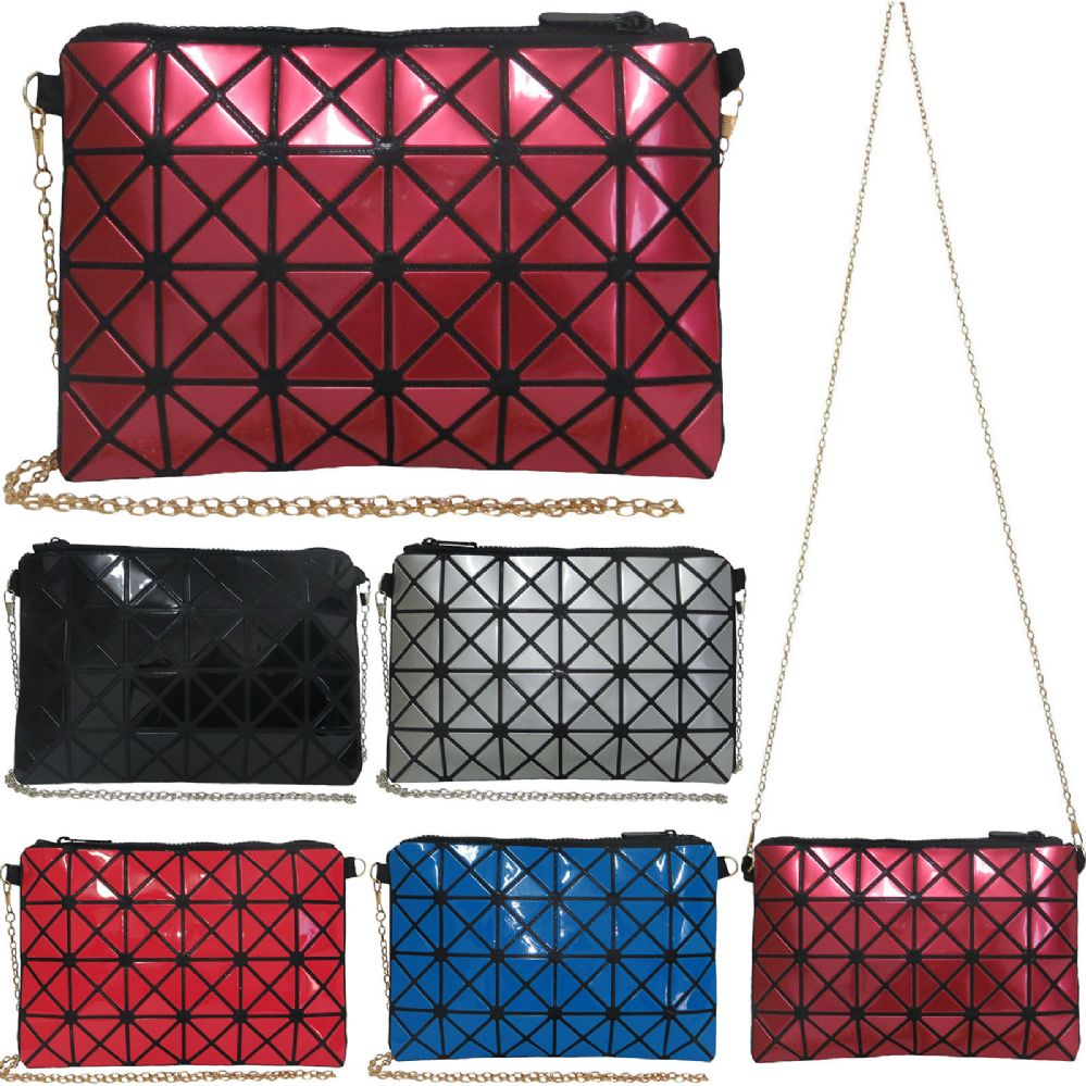 1bbbcee3 36 Units of Vibrant geometric print cross body bag with removeable chain. -  Leather Purses and Handbags - at - alltimetrading.com