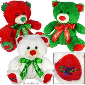 12 Units of Plush Merry Christmas Bears