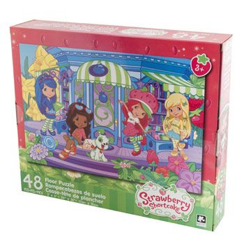 36 Units of Puzzle 48pc Strawberry Shortcake Floor Size 24x36 3 Assorted