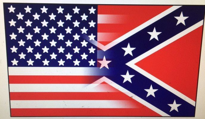 48 units of 3 x5 half and half confederate american flag signs