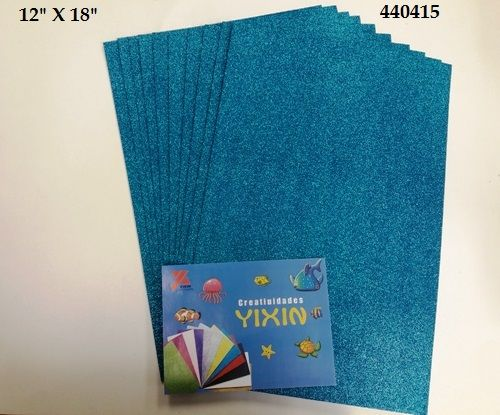 24 Units of Eva Foam With Glitter 12X18 10 Sheets In ...