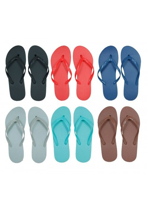 96 Units of The classic slim flip flop with sleek straps - Women's Flip Flops