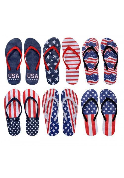 b9cc72b3a3719 96 Units of Womens Flip Flops Assorted American Flag - Women s Flip Flops -  at - alltimetrading.com