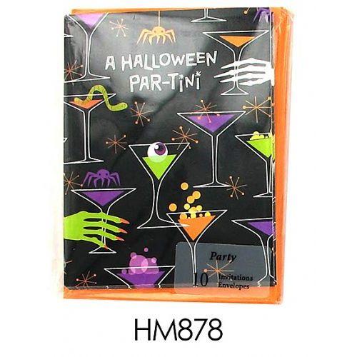 "144 Units of Halloween ""Par-Tini"" invitations - Halloween & Thanksgiving"