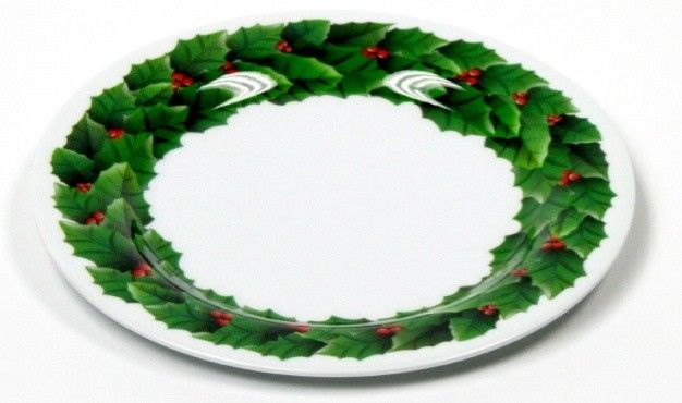 "24 Units of Plate 8"" -Christmas, Round"