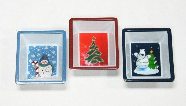 "24 Units of Dish, Christmas - 3 designs, 5 x 6"""