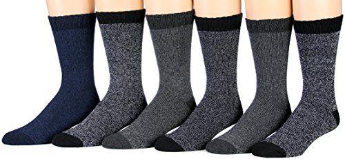6 Pairs of Excell Thermal Socks, Men Boot Socks, Hiking Socks (877TH)