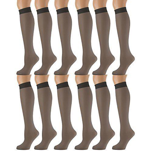 69abf1fd78fe 12 Units of Yacht & Smith Trouser Socks for Women, 20 Denier Opaque Knee High  Dress Socks - Womens Trouser Sock - at - alltimetrading.com