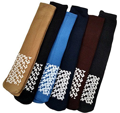 6 Pairs of excell Mens Diabetic Medical Non Skid Slipper Socks, #5896 - Diabetic Socks