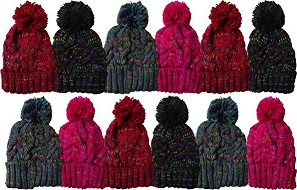 cddef93e684 12 Units Of excell Mens Womens Warm Winter Hats In Assorted Colors ...