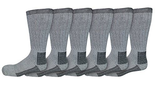 6 Pairs of excell Men's King Size Merino Wool Winter And Hiking Thermal Socks