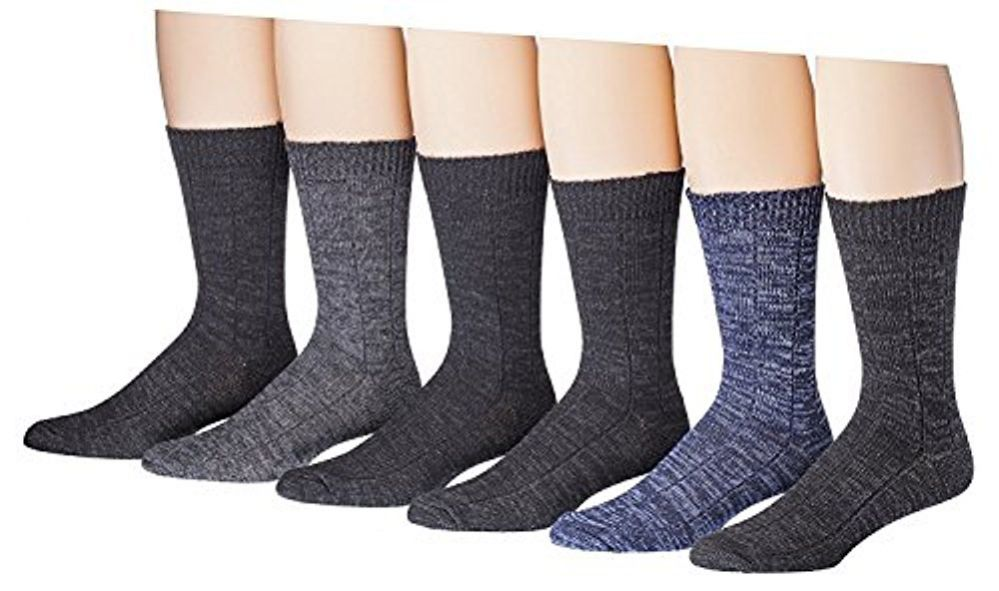 6 Pairs Of excell Mens Premium Quality Cotton Weather Collection Thermal Socks - Mens Thermal Sock