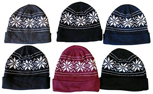 92702144fea 6 Pieces Of excell Mens Heavy Fleece Lined Winter Hat - Winter Beanie Hats  - at - alltimetrading.com