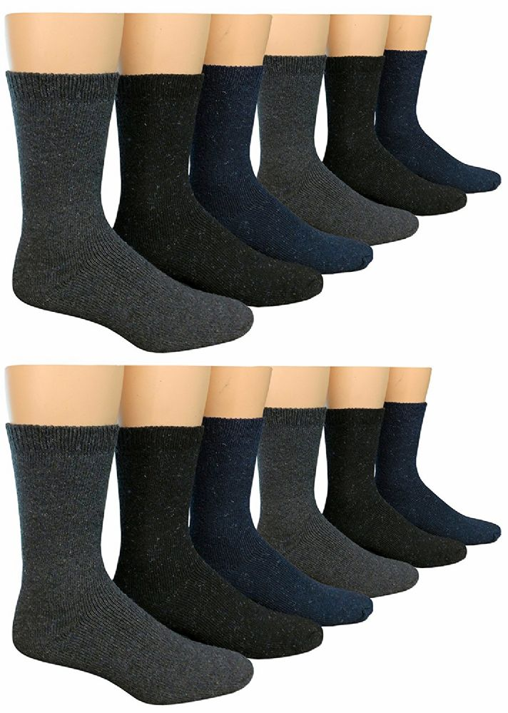 12 Pairs Of excell Mens Heavy Duty Wool Blend Winter Warm Work Socks