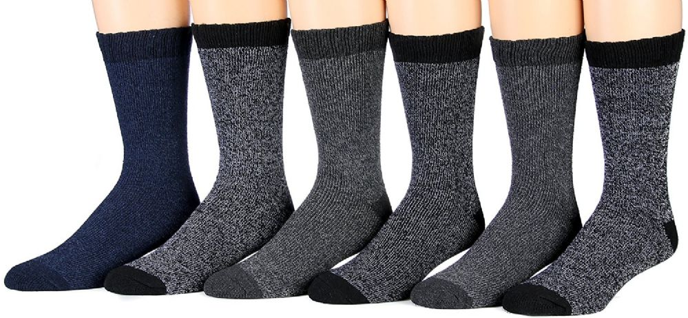 6 Pairs of Excell Thermal Socks, Men Boot Socks, Hiking Socks (877TH) - Mens Thermal Sock