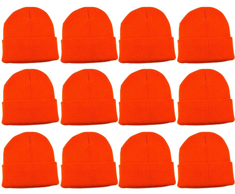 5db47f707dd 12 Piece Of excell Warm Winter Orange Toboggan Hunter Hat