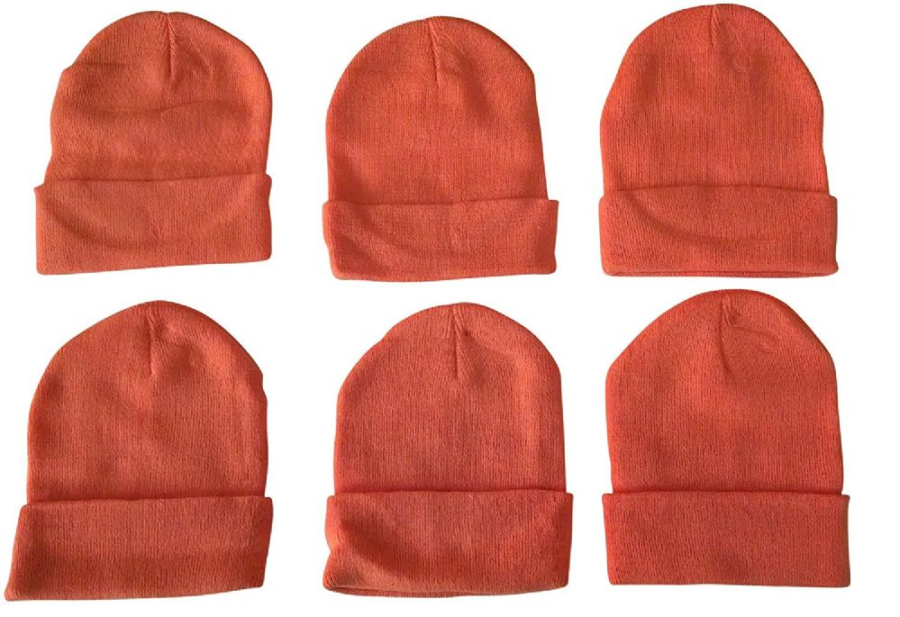 6 Piece Of excell Warm Winter Orange Toboggan Hunter Hat 1c6e2e142