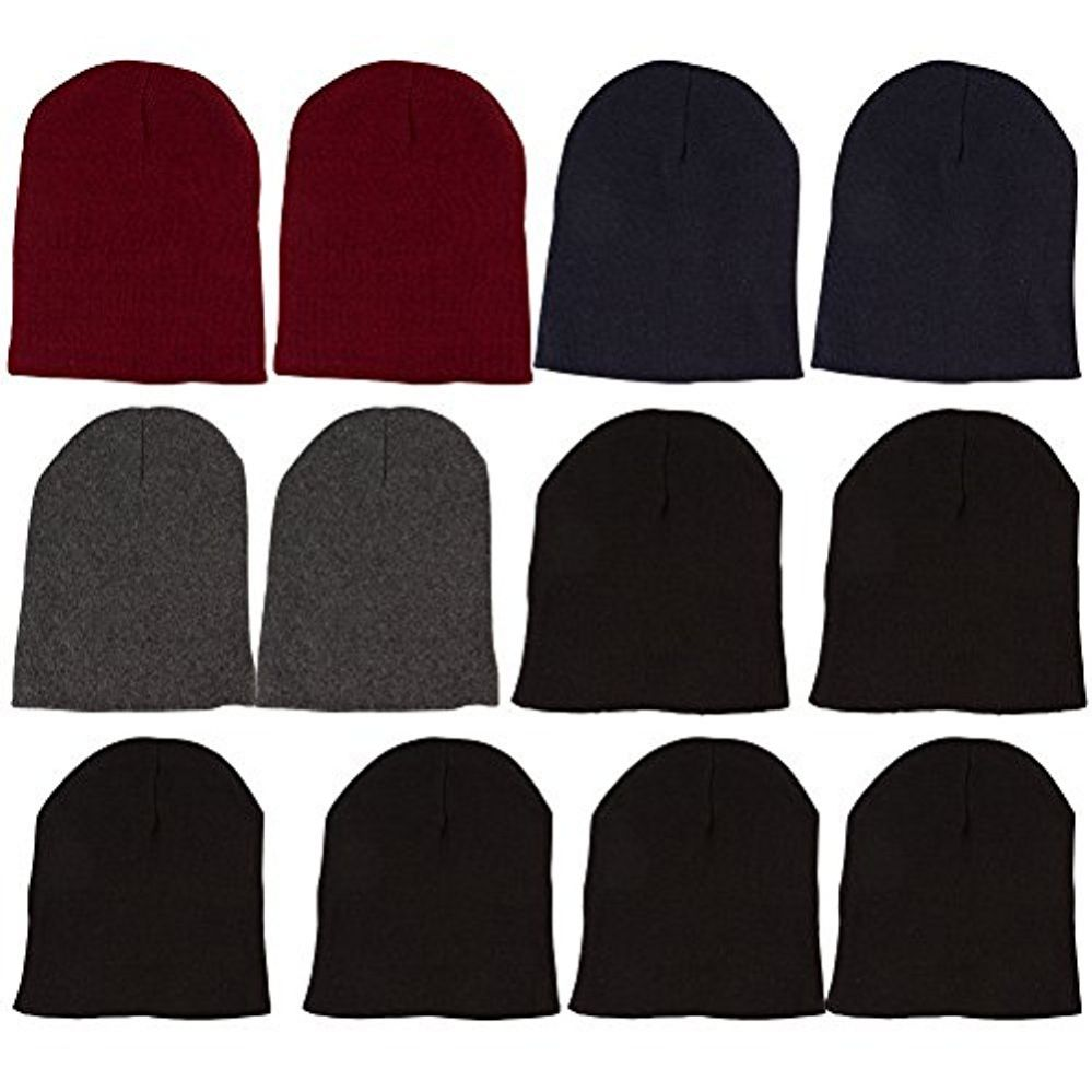 12 Pack of Mens Womens excell Winter Beanie Hats, Thermal Sport - Winter Beanie Hats