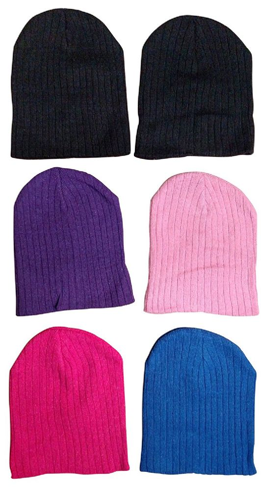 6 Pieces Of excell Girls Winter Ribbed Beanie Hat - Winter Beanie Hats - at  - alltimetrading.com 6edb97e297c2