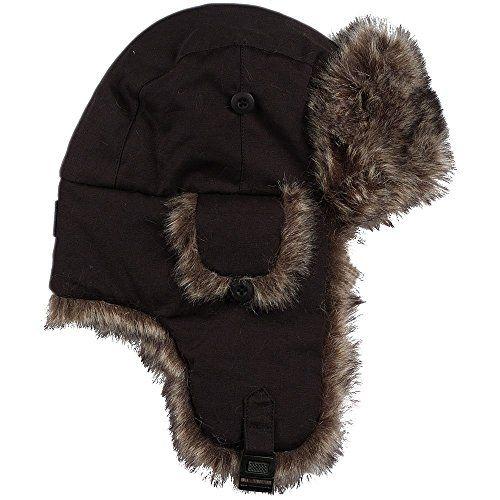 1754b71d66a excell Brand Black Mens Womens Nylon Russian Trapper W Soft Faux Fur Winter  Hat - Trapper Hats - at - alltimetrading.com