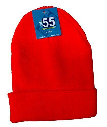 excell Brand Blank Cuff Beanie Orange Or Yellow (Orange) - Winter Beanie Hats