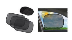 18 Units of Auto Car Sun Shades 3 Piece Set with Carrying Case Clings To Window - Auto Sunshades and Mats