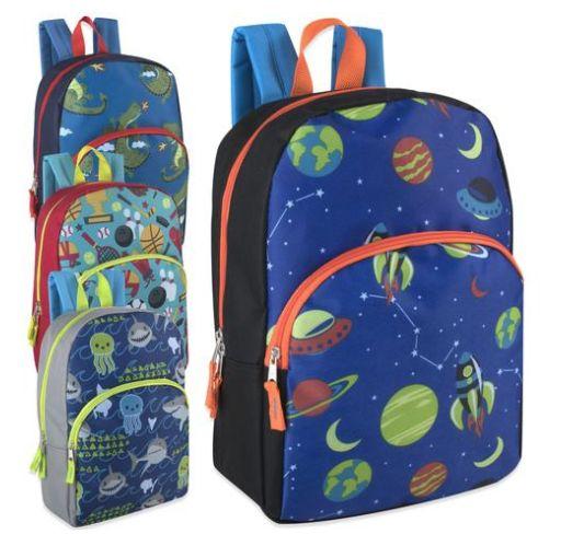 1c460b71cb 24 Units of Boys Character Backpacks - 15 Inch Boy Colors - Backpacks 15