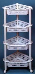 12 Units of 4 Tier White Corner Rack - Home Goods