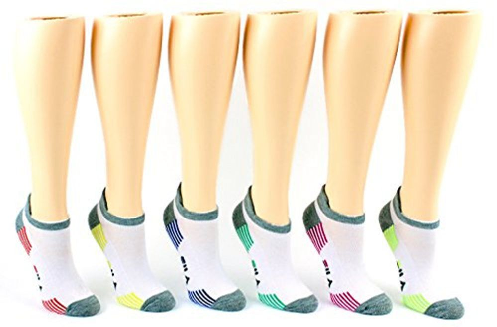 30 Pairs Value Pack of WSD Women's No-Show Socks (Size 9-11), White / Gray / Colorful