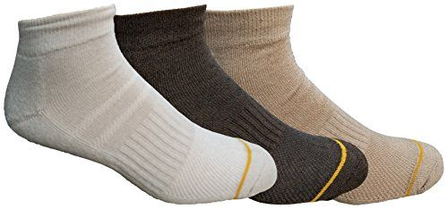 3 Pairs of Gold Toe Mens High Performance Ankle Socks, Assorted Style Sports Sock (Assorted A)