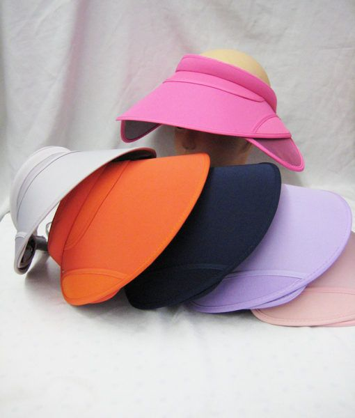 24 Units of Womens Fashion Extra Coverage Sun Visor Solid Colors - Sun Hats  - at - alltimetrading.com 246777d11d7