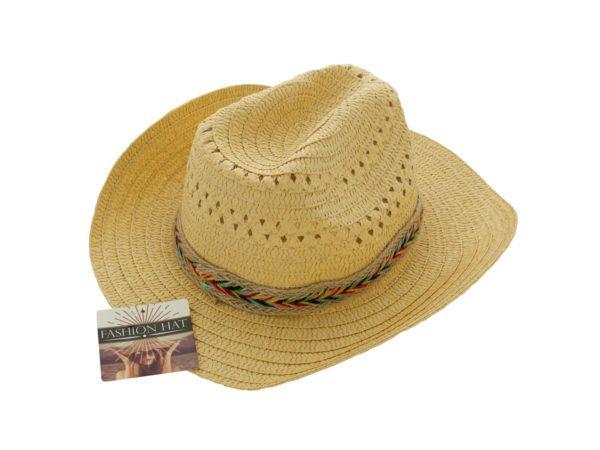 f298f89c4fd65 24 Units of Western Style Woven Fashion Hat - Cowboy   Boonie Hat - at -  alltimetrading.com