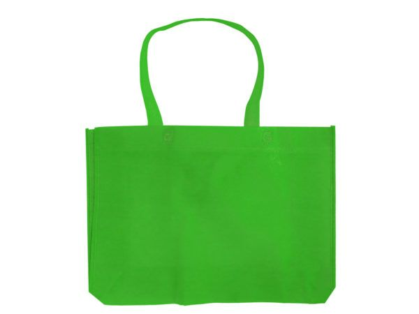 90 Units of Apple Green Medium Lightweight Shopping Tote - Tote Bags & Slings