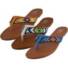 941f52194 36 Units of Women s Beaded Patterns Flip Flops - Women s Flip Flops ...