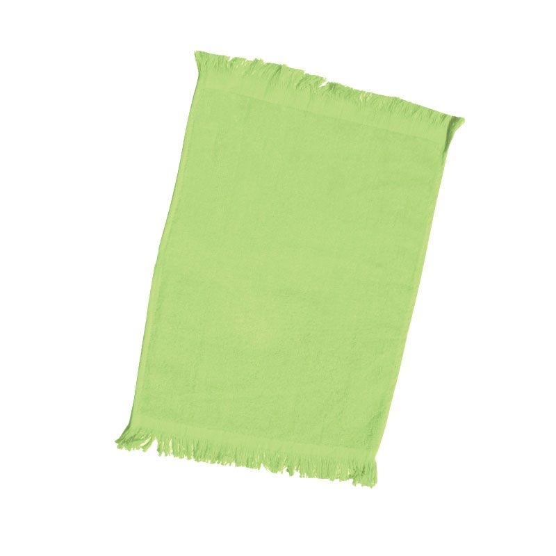 240 Units Of Fingertip Towel Fringed Ends In Lime Towels At