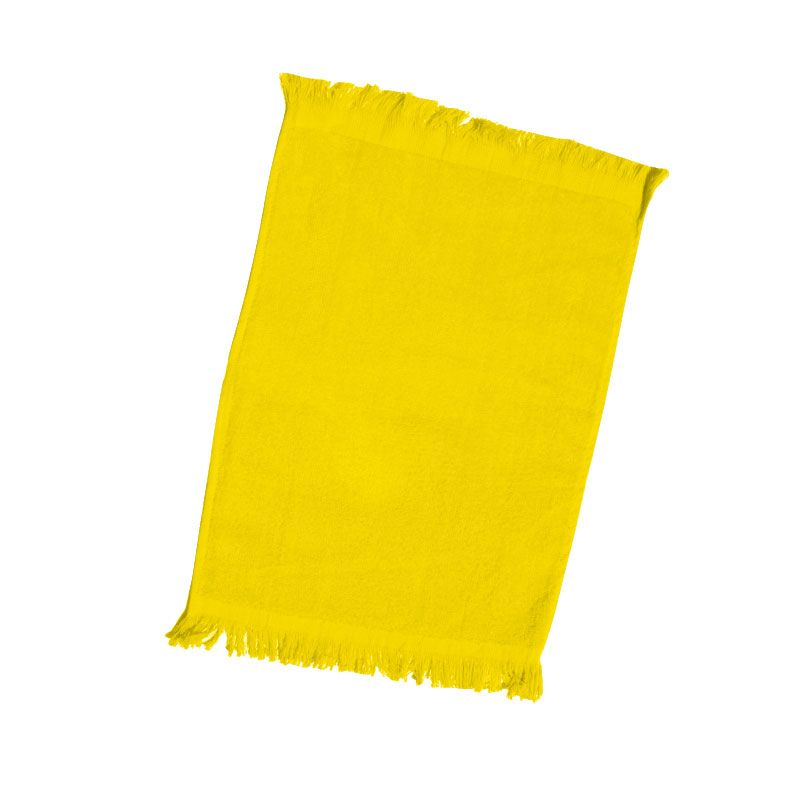 240 Units Of Fingertip Towel Fringed Ends In Yellow Towels At