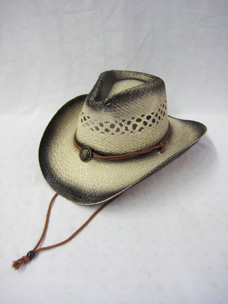 e78b19d9efd67 36 Units of WESTERN COWBOY STRAW HAT VENT TOP WITH TIE DOWN - Cowboy    Boonie Hat - at - alltimetrading.com