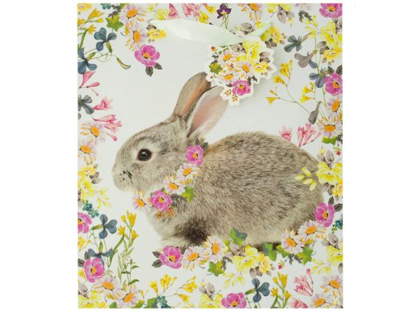 120 units of bunny floral gift bag with tag gift bags at 120 units of bunny floral gift bag with tag gift bags negle Choice Image