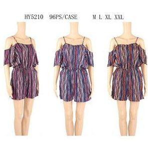 b0f65391328 48 Units of WOMENS FASHION STRIPED ROMPER ASSORTED SIZE - Womens Rompers    Outfit Sets - at - alltimetrading.com