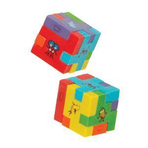 48 Units of Dr. Seuss Fidget Puzzle Eraser - ERASERS