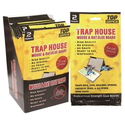 """96 Units of 2 Pack mouse glue board 8x5"""" - Pest Control"""
