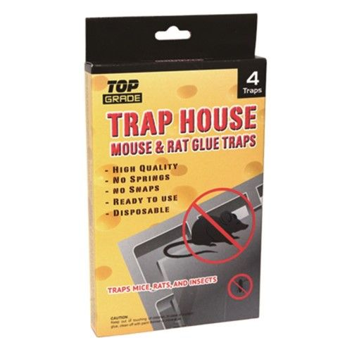 48 Units of 4 Pack mouse glue trap 7x4.5""